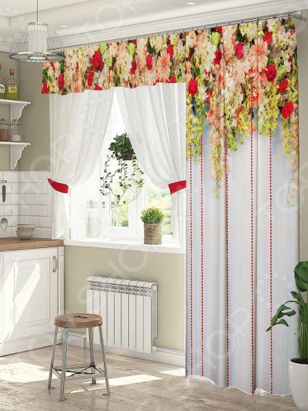 фото Комплект штор для окна с балконом ТамиТекс «Нежнее нежного», Шторы для окна с балконом