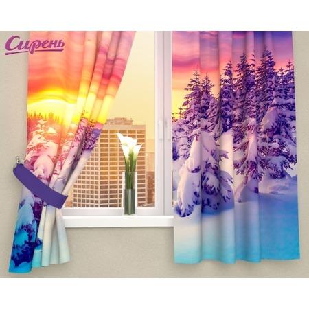 Купить Фотошторы Сирень «Закат в зимнем лесу»