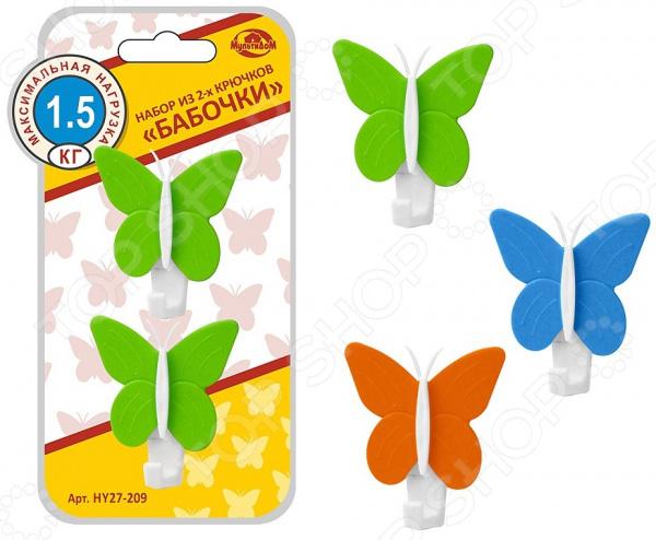 Набор крючков Мультидом «Бабочки» HY27-209. В ассортименте