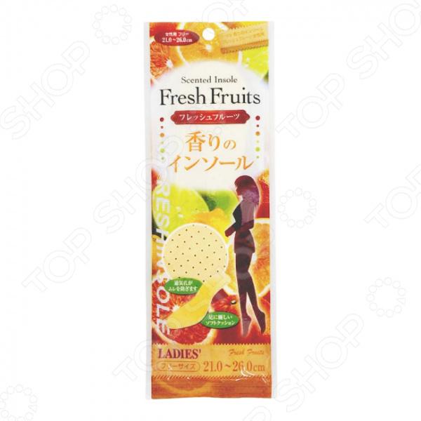 Стельки женские Fudo Kagaku с ароматом фруктов гелевые подушечки под стопу fudo kagaku уменьшающие давление при ходьбе