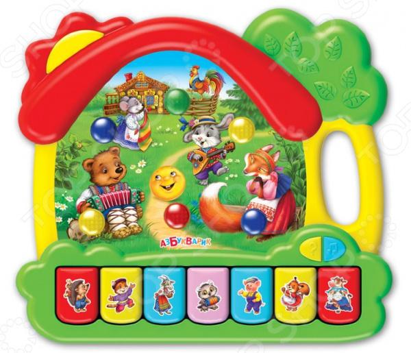 Игрушка обучающая музыкальная Азбукварик «Сказки. Музыкальный домик»