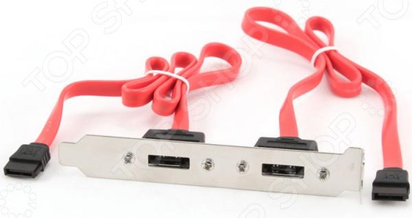 Планка в системный блок Gembird 2 eSATA (внешних)/2 SATA (внутренних) new black 1m 3ft esata to esata 7 pin shielded external cable cord p10