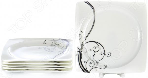 Набор десертных тарелок OlAff «Белый квадрат. Узоры» фруктовница olaff кетцаль узоры 2 яруса kr scp011 012 1056b