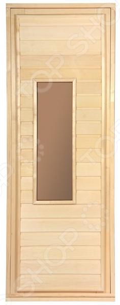 Дверь для бани со стеклом Банные штучки 32216
