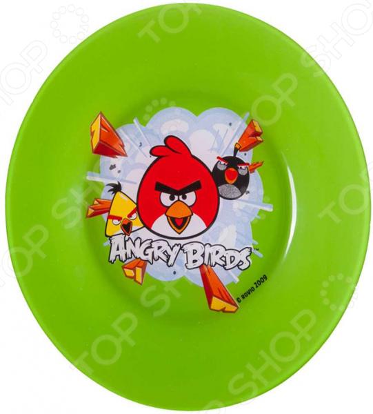 Набор детских тарелок Angry Birds.  Rovio 2009 Посуда выполнена из качественного прочного стекла, который абсолютно...
