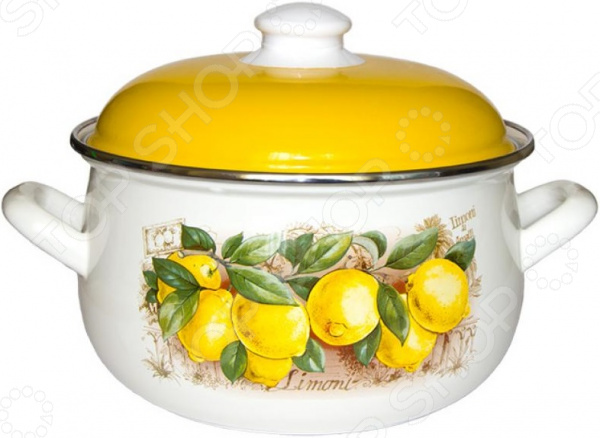Кастрюля Interos «Лимоны»
