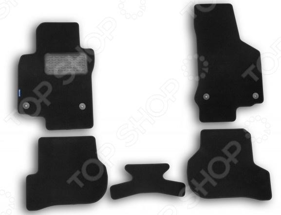 Комплект ковриков в салон автомобиля Novline-Autofamily Volkswagen Golf GTI 3D 2009 хэтчбек. Цвет: черный комплект 3d ковриков в салон автомобиля novline autofamily volkswagen touareg 2010 2015 2015