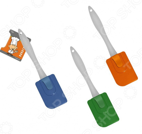 Лопатка кулинарная Мультидом AN80-90. В ассортименте подставка для крышки и ложки мультидом петушок an80 152 в ассортименте