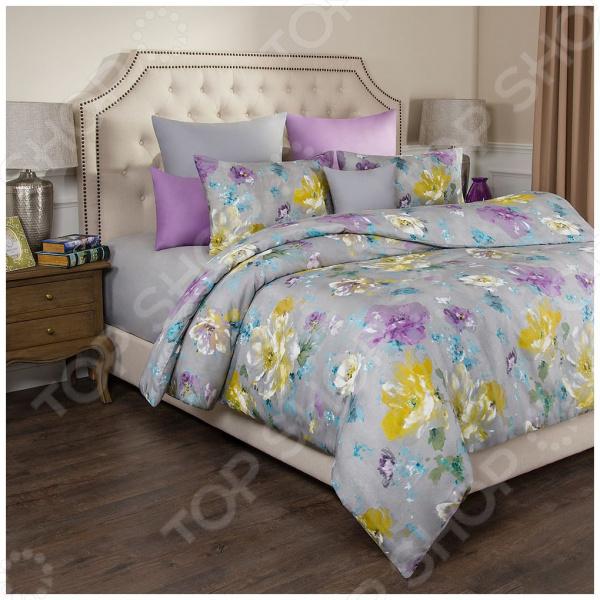 Комплект постельного белья Santalino «Цветы» комплекты белья linse комплект белья