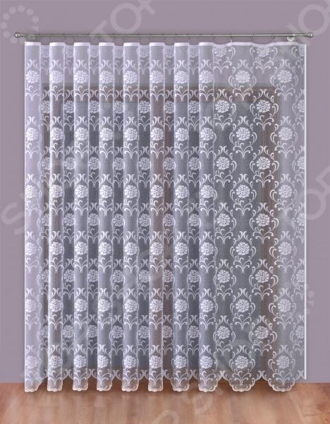Тюль Zlata Korunka «Цветочный мотив». Цвет: белый