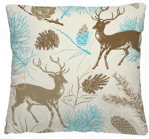 Подушка декоративная Волшебная ночь «Лесные олени»