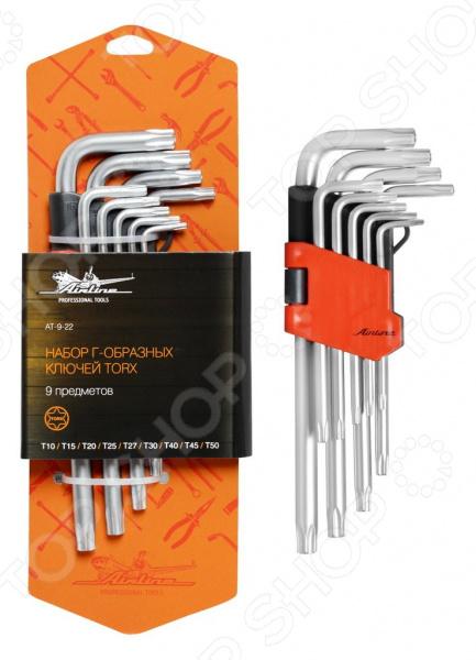 Набор ключей Г-образных TORX Airline AT-9-22 набор шестигранных угловых ключей sata 9 предметов metric пластиковый блистер 09107a