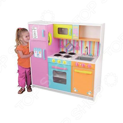 Кухня детская с аксессуарами KidKraft «Делюкс» детская кухня kidkraft игровая кухня для девочки из дерева модерн modern country kitchen