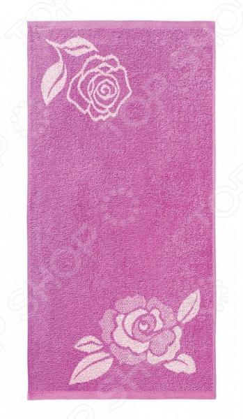 цена Полотенце махровое Aquarelle «Розы вид 1». Цвет: нежно-розовый, орхидея онлайн в 2017 году