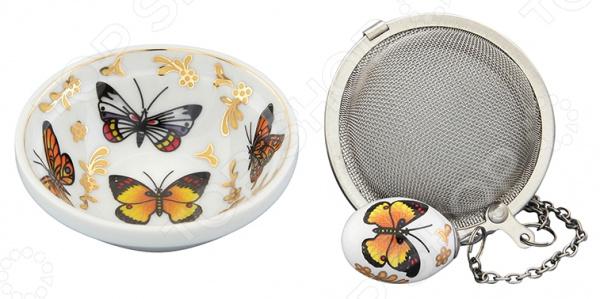 Набор для заваривания чая Elan Gallery «Бабочки»