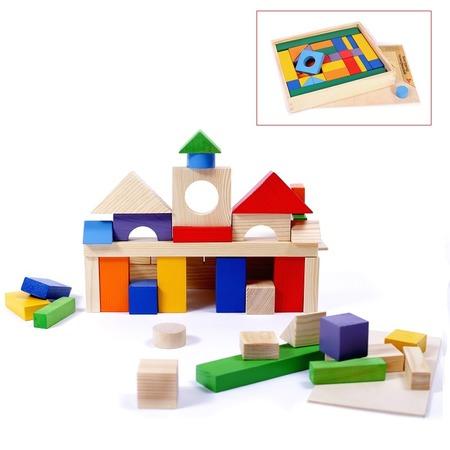 Купить Конструктор деревянный PAREMO PE117-9. Количество элементов: 51 шт