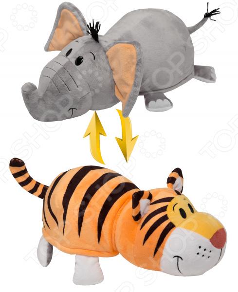 Мягкая игрушка 1 Toy «Вывернушка 2в1: Тигр-Слон»