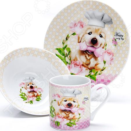 Набор посуды для детей Loraine LR-27113 «Собачка»