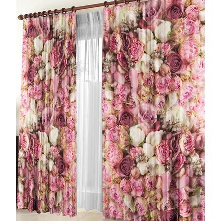 Купить Фотошторы ТамиТекс «Розовые пионы»