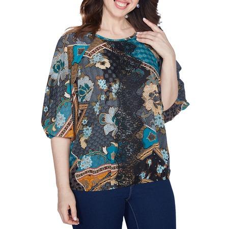 Купить Блуза Wisell «Простая грация». Цвет: бирюзовый