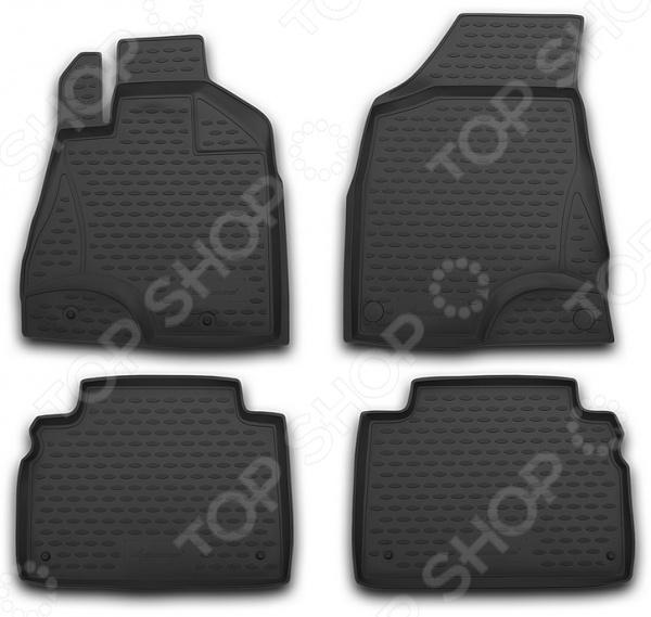 Комплект ковриков в салон автомобиля Novline-Autofamily Nissan Tiida 2004-2015 комплект ковриков в салон автомобиля novline autofamily nissan tiida 2004 седан цвет черный
