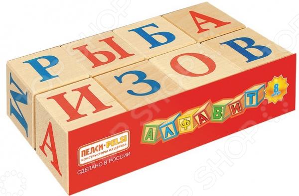 Кубики развивающие Теремок с русским алфавитом