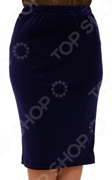 Юбка Лауме-Лайн «Желанная». Цвет: темно-синий