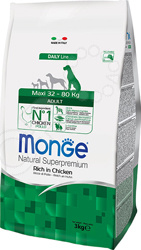 Корм сухой для собак крупных пород Monge Natural Superpremium Maxi Rich in Chicken