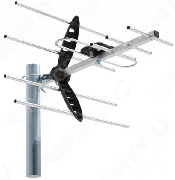 Антенна телевизионная Hyundai H-TAE240 телевизионная антенна tesler ida 250 активная телевизионная комнатная антенна для приема аналогового и цифрового сигнала dvbt t2