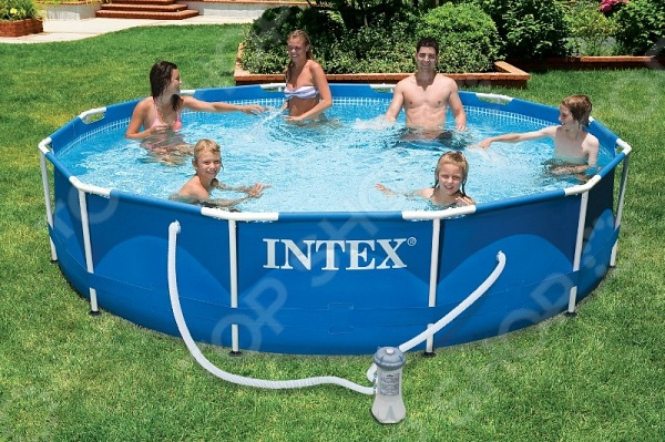 где купить  Бассейн каркасный с аксессуарами Intex с28218  дешево
