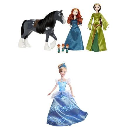 Купить Набор подарочный Mattel «Королевство Мериды и Золушка в сияющем платье». В ассортименте