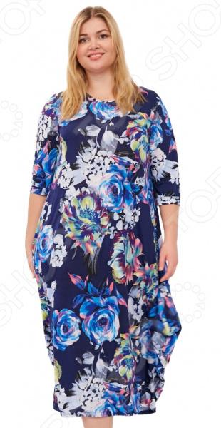 Платье Laura Amatti «Королева времени». Цвет: синий платье laura amatti свет луны