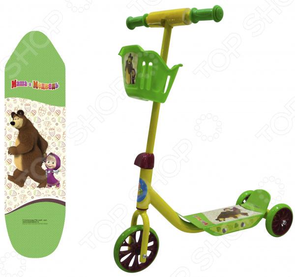 Самокат трехколесный 1 Toy «Маша и Медведь» Т11701 самокат трехколесный 1 toy т57644 peppa