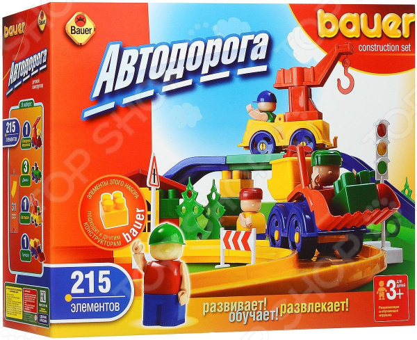 Конструктор игровой Bauer «Автодорога» конструктор bauer самолет 284