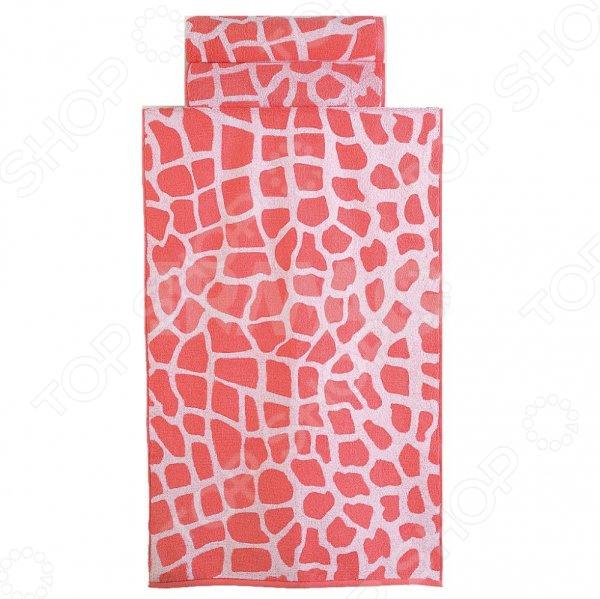 Фото - Полотенце махровое Aquarelle «Мадагаскар жираф». Цвет: белый, коралловый полотенце minimoto ya04462