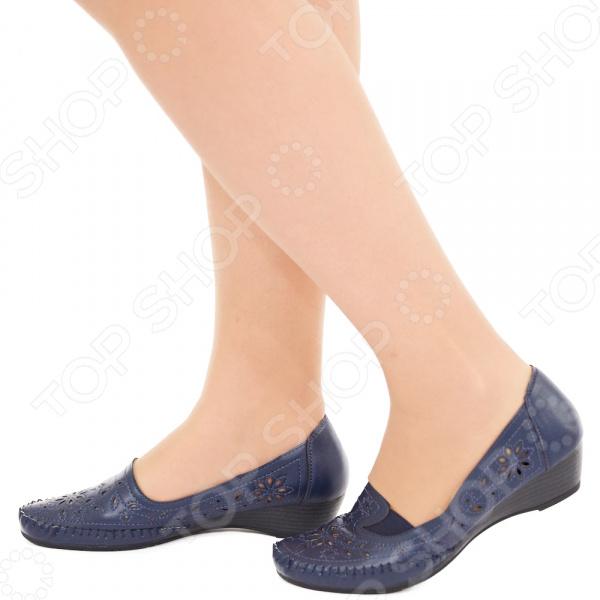 Туфли EGO «Бланка». Цвет: темно-синий