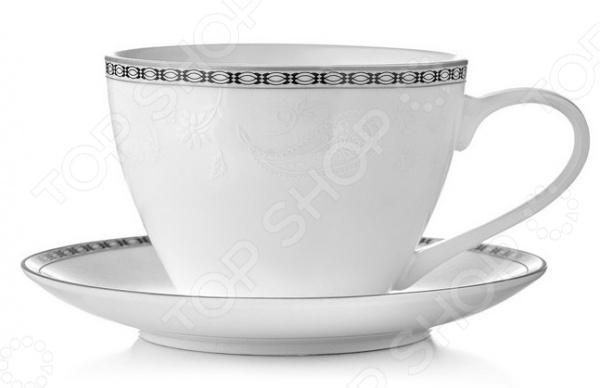 фото Чайная пара Esprado Arista White, Чайные и кофейные пары