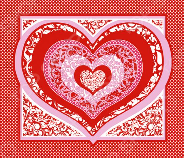 Полотенце вафельное ТексДизайн «Пора любви» полотенце для кухни арти м джинсовое сердце
