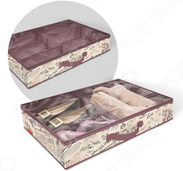 Кофр для хранения обуви с разделителями Valiant Romantic valiant набор вешалок дер 3шт прямых с переклад romantic
