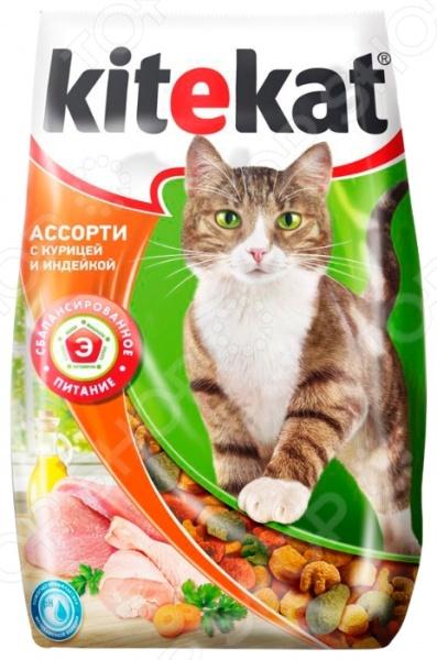 Корм сухой для кошек Kitekat «Ассорти с курицей и индейкой»