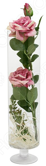 Декоративные цветы Dream Garden «Роза бордово-желтая» в вазе
