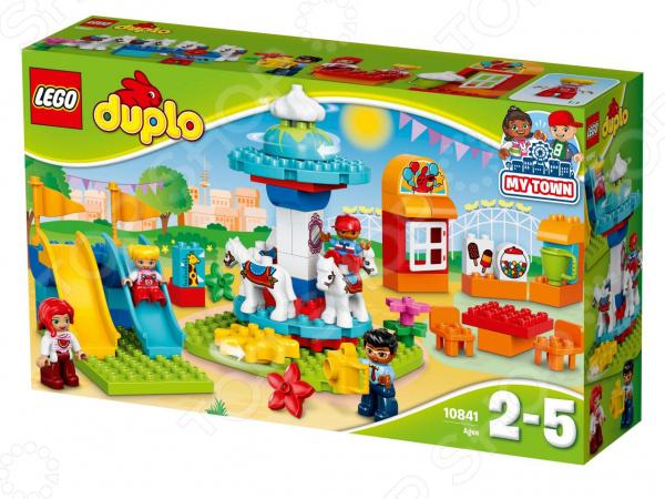 Конструктор для малышей LEGO Duplo «Семейный парк аттракционов» конструктор lego duplo town большой парк аттракционов 10840