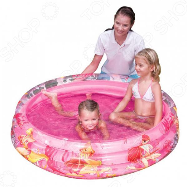 Предназначенный для детей от 3 лет, надувной бассейн Bestway Winx 92011 сделан из винила высокой прочности. Оригинальный дизайн в виде персонажей любимого мультфильма многих деток WINX. Вместительность 75 : 167 л. Ремкомплект помогает легко починить бассейн.