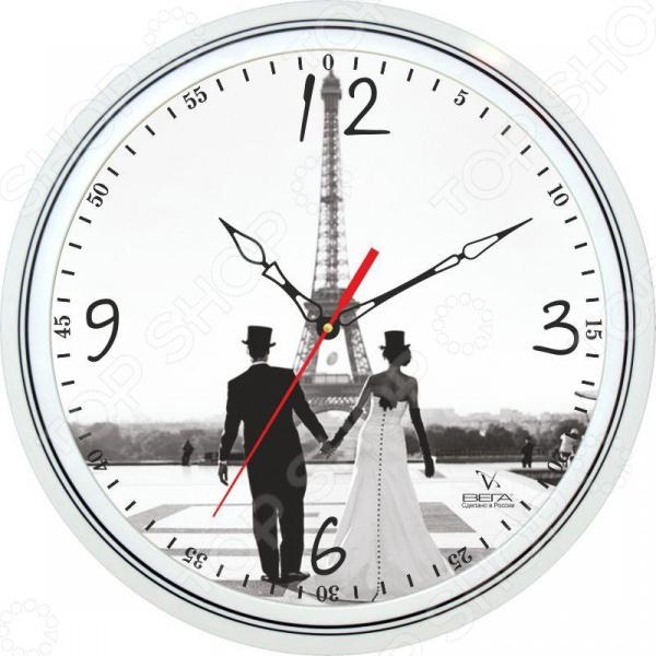 Часы настенные Вега П 1-763/7-130 «Эйфелева башня» пазлы magic pazle объемный 3d пазл эйфелева башня 78x38x35 см