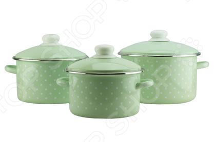 Набор посуды Эмаль «Зеленый чай» бальзам для мытья посуды зеленый чай frosch 0 5 л