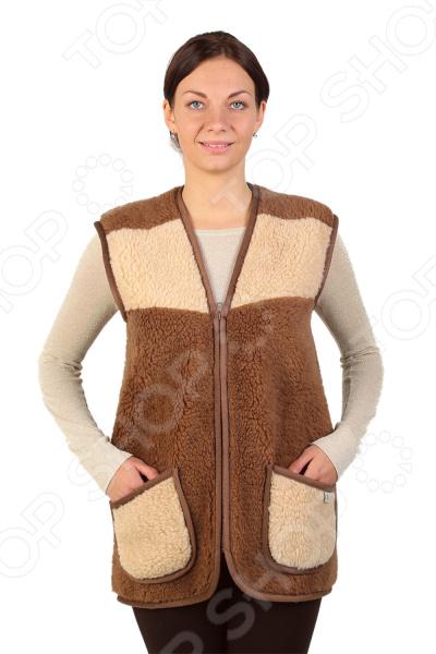 Жилет утепленный WoolHouse С.2.2.М. Цвет: коричневый, бежевый жилет утепленный мужской woolhouse матео