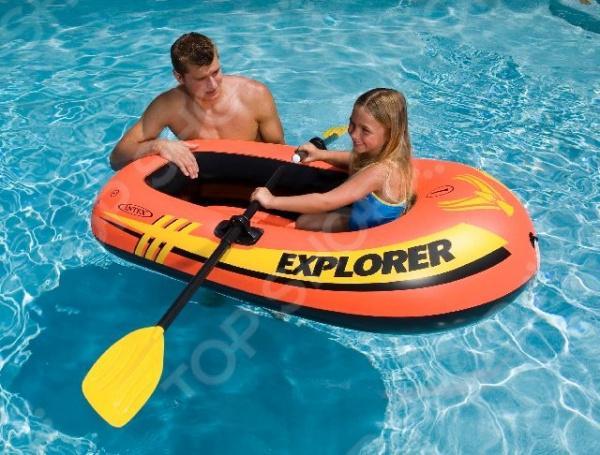 Лодка надувная детская Intex Explorer 100 intex гамак тканевый 100