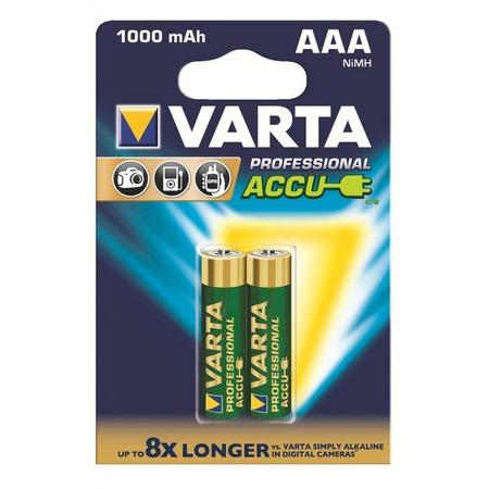 Батарея аккумуляторная VARTA AAA R2U 1000мАч 2 шт.