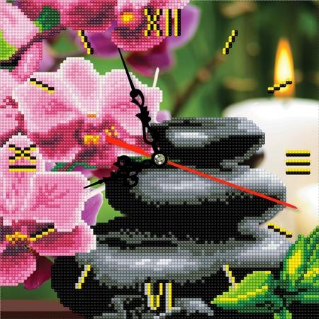 Купить Часы из алмазной мозаики Color Kit «Фен-шуй Благополучие»