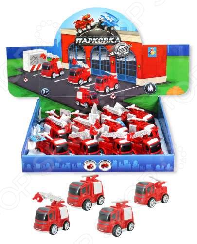 Машинка игрушечная 1 Toy «Пожарная станция». В ассортименте развивающая игрушка умка пожарная машинка со стихами м дружининой